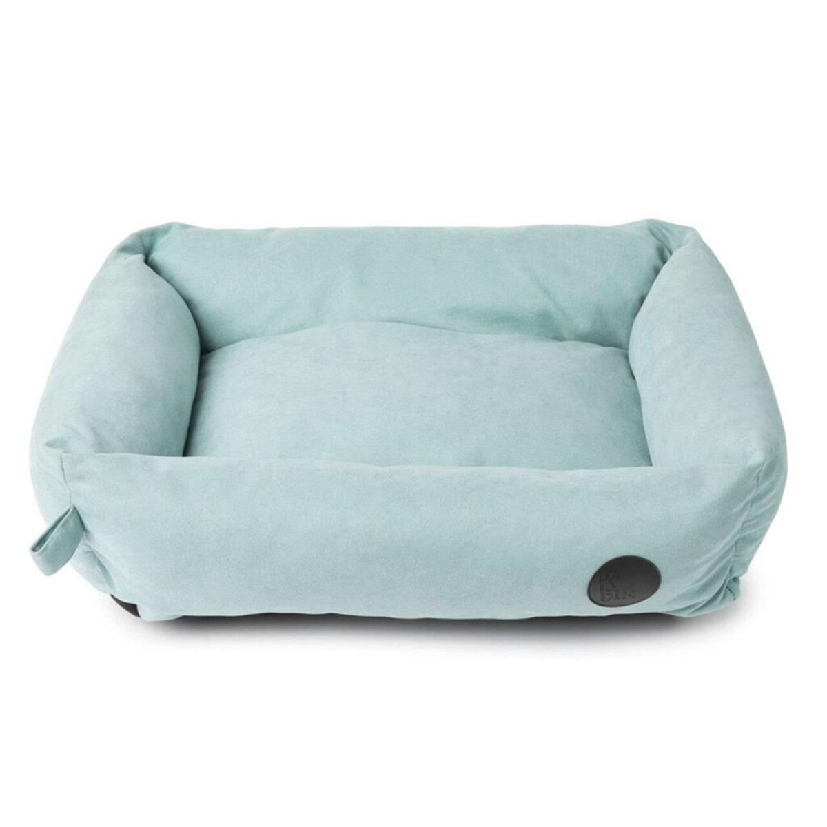 簡約貓犬長型梳化床(粉藍色L)  K28