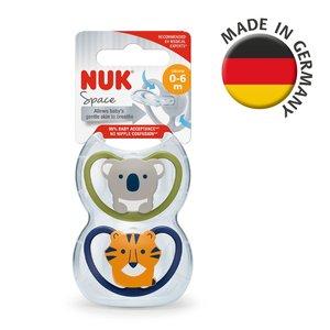 NUK 超透氣按撫奶咀連盒 2個裝 (0-6個月)