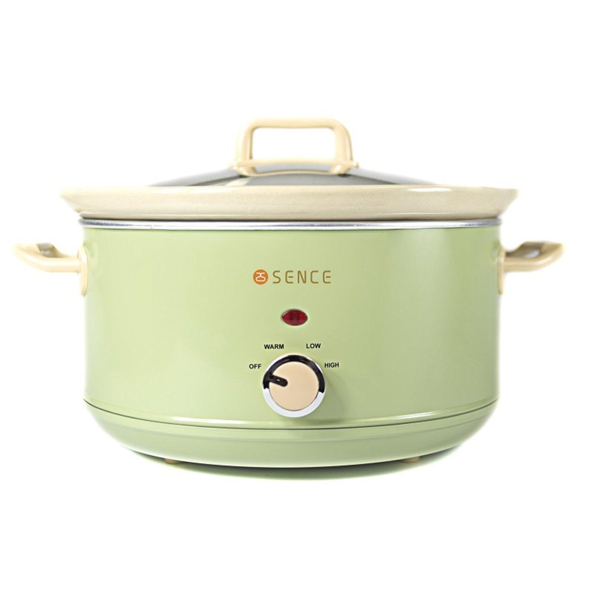 慢燉養生陶瓷鍋(4.5L) 粉綠色 [陳列品]