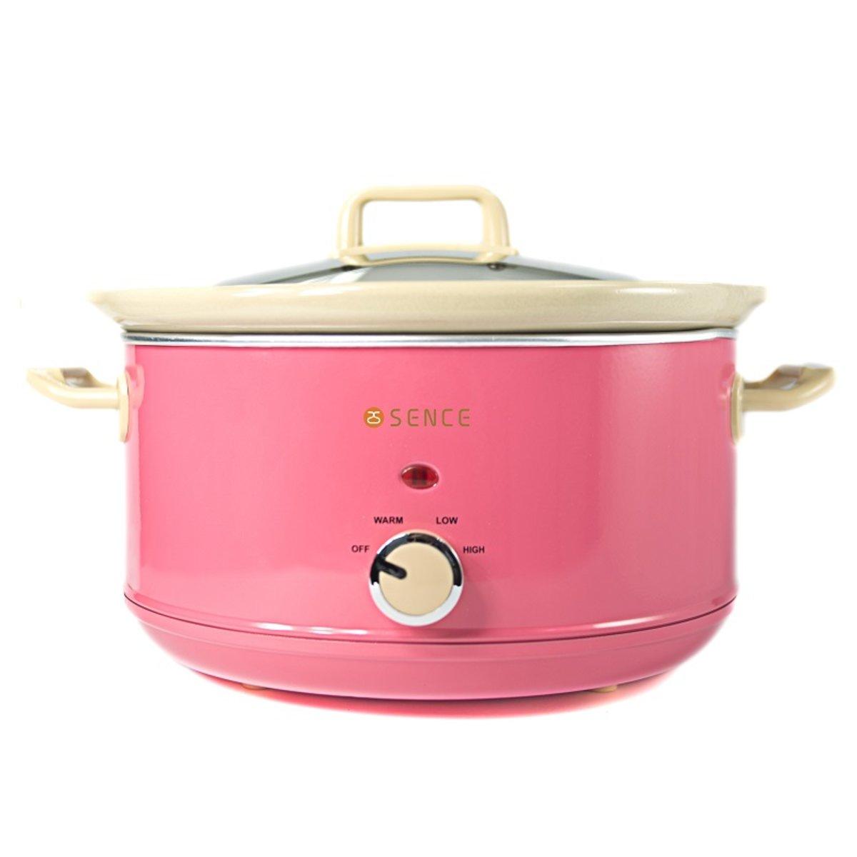 慢燉養生陶瓷鍋(4.5L) 粉紅色 [陳列品]