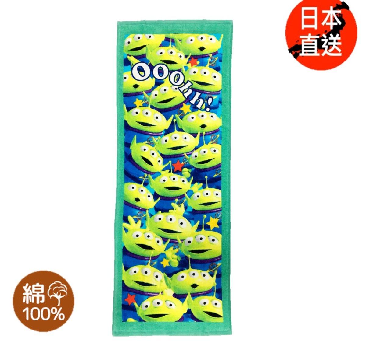 純棉長浴巾(三眼仔)(日本直送) (迪士尼許可產品)