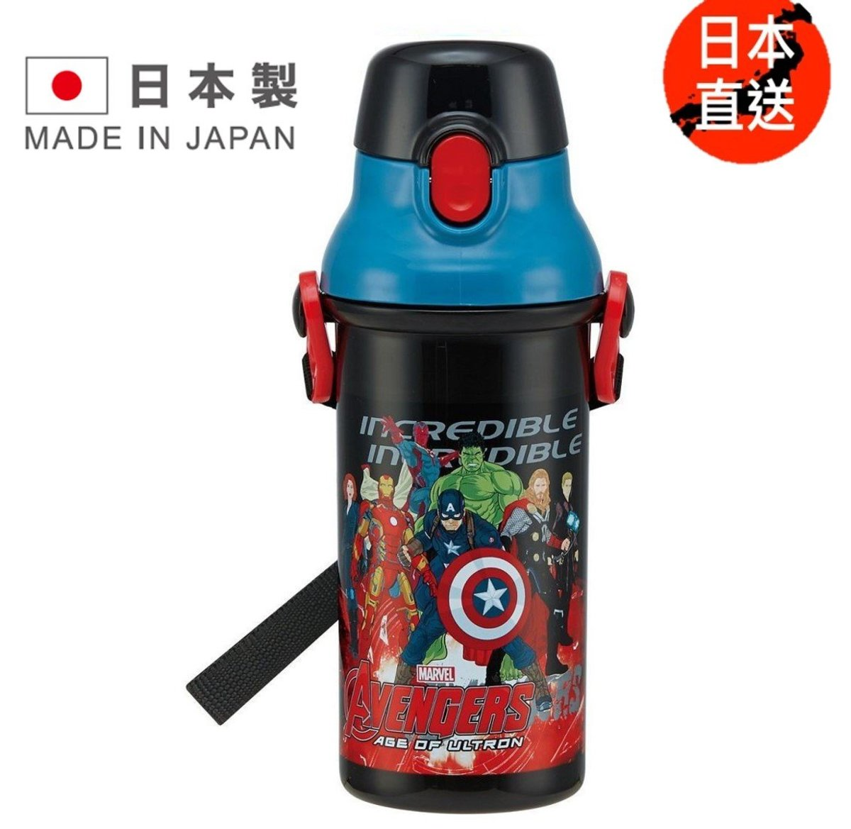 Straw with water bottle A (480ml)(Licensed by Disney)