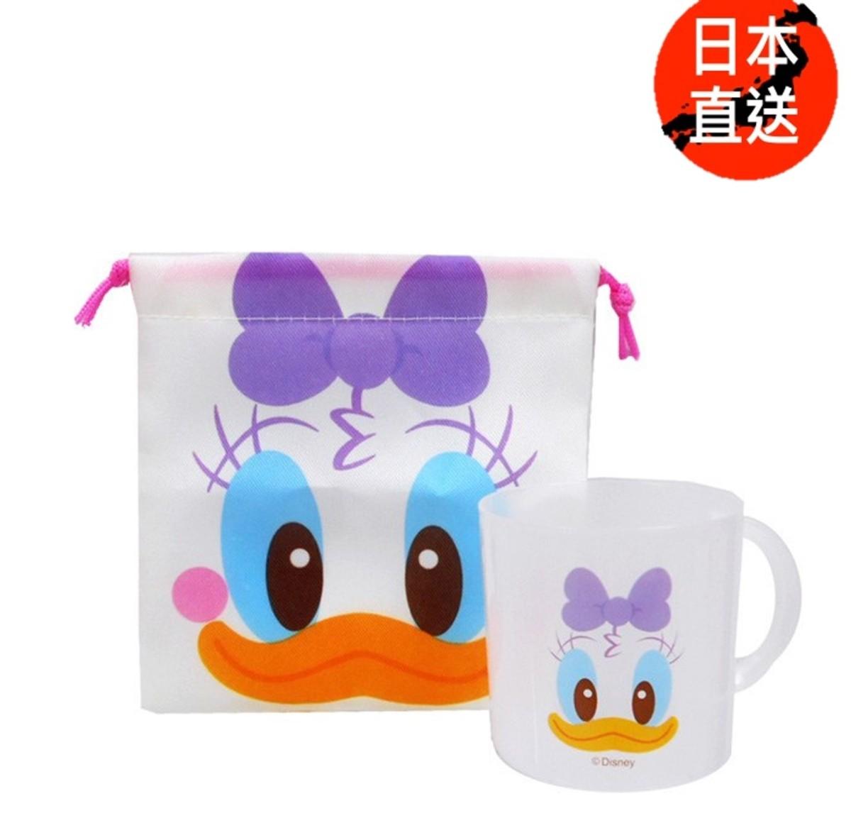 Disney迪士尼 --索袋水杯套裝(黛西)(日本直送) (迪士尼許可產品)