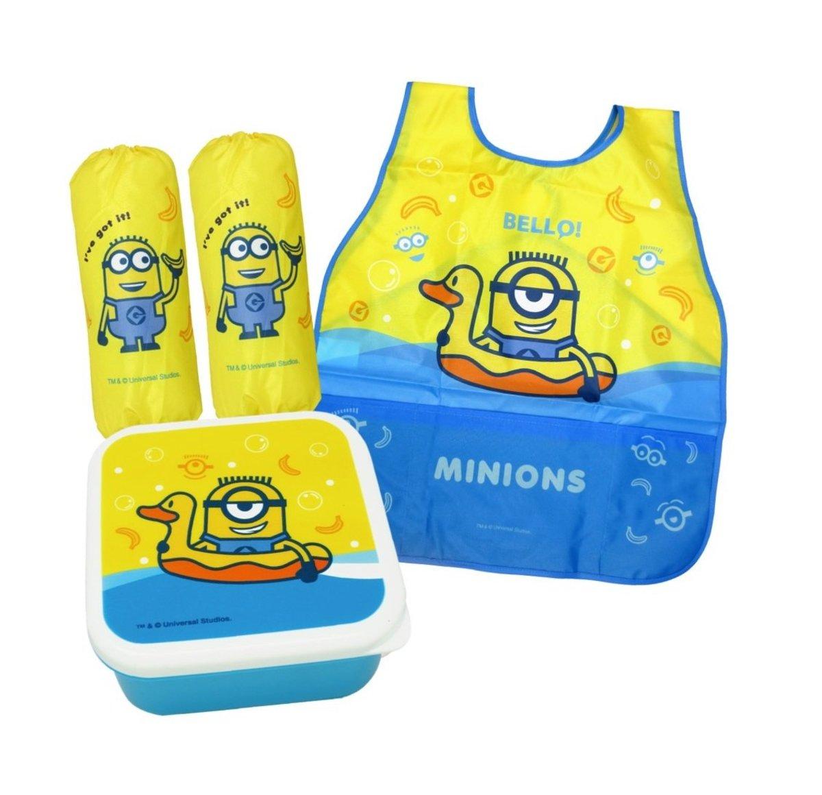 Child small Box apron with muff set