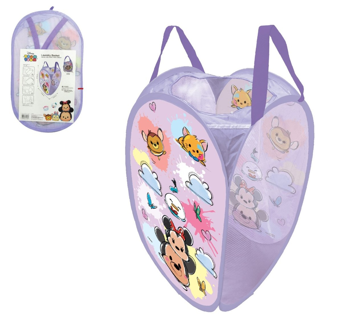 Disney迪士尼 --foldable laundry basket C (Licensed by Disney)