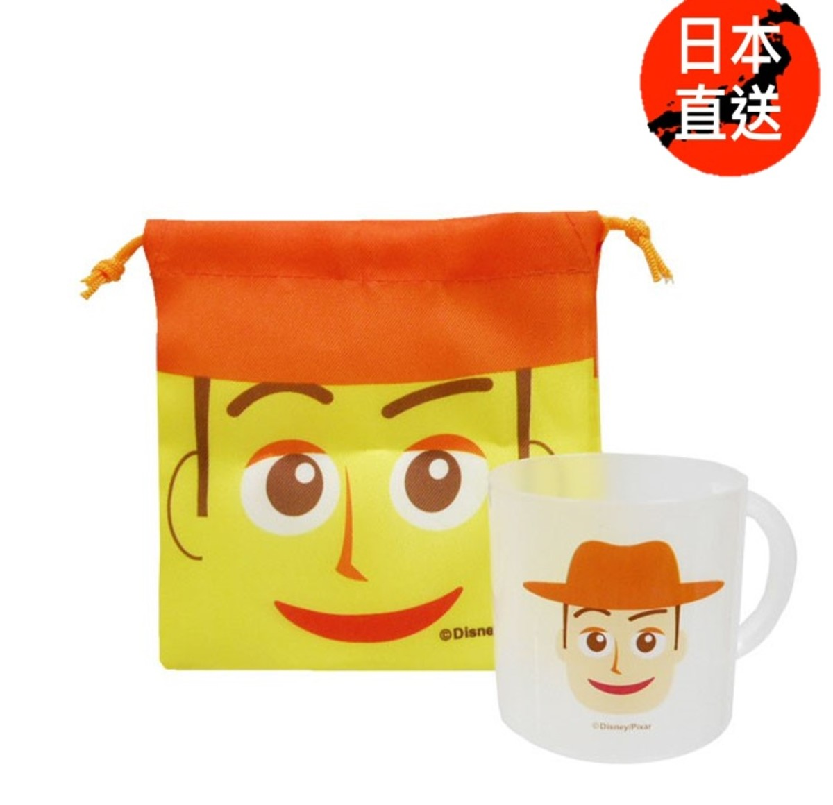 Cable bag cup set(Woody) (Licensed by Disney)