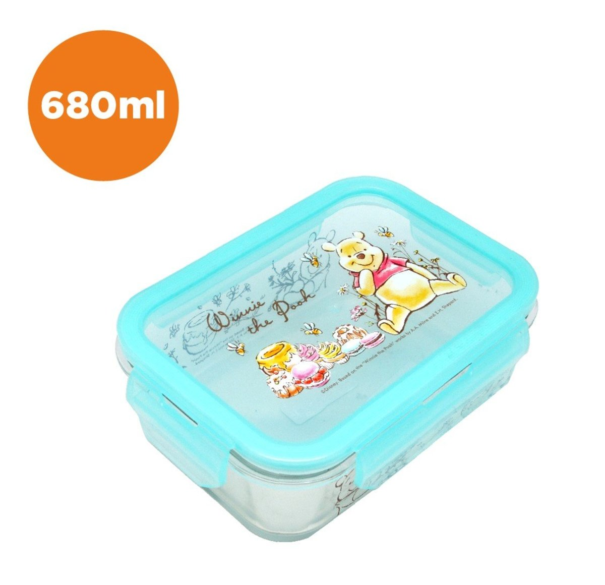 glass food container (680ml) (Licensed by Disney)
