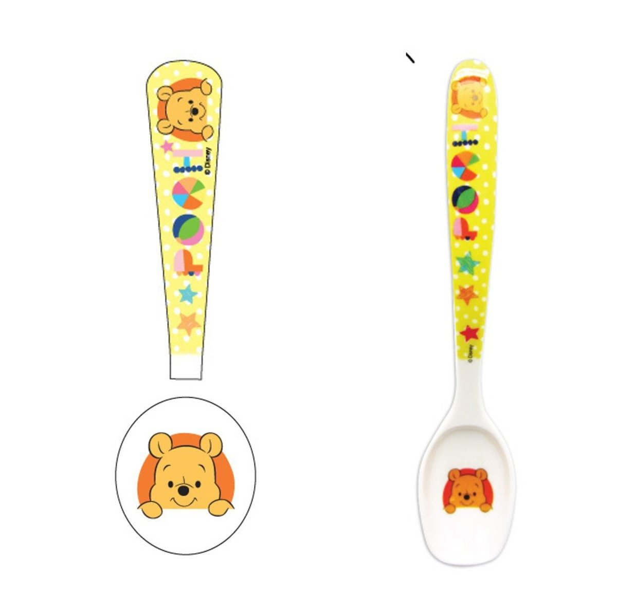 melamine 7.5 spoon B(Licensed by Disney)