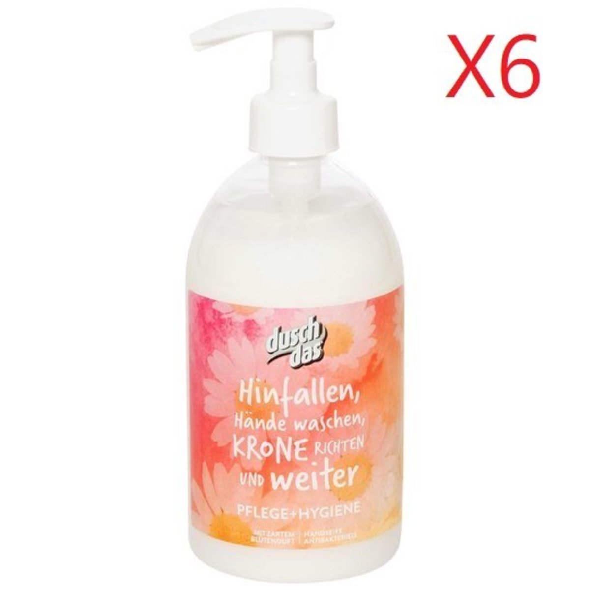 Duschdas Hand Wash 500ml - Care&Hygiene X 6pcs  [Parallel Import Product]