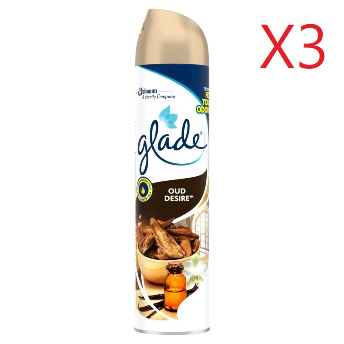 Glade Air Refresher Spray 300ml - OUD Desire X3 [Parallel Import Product]