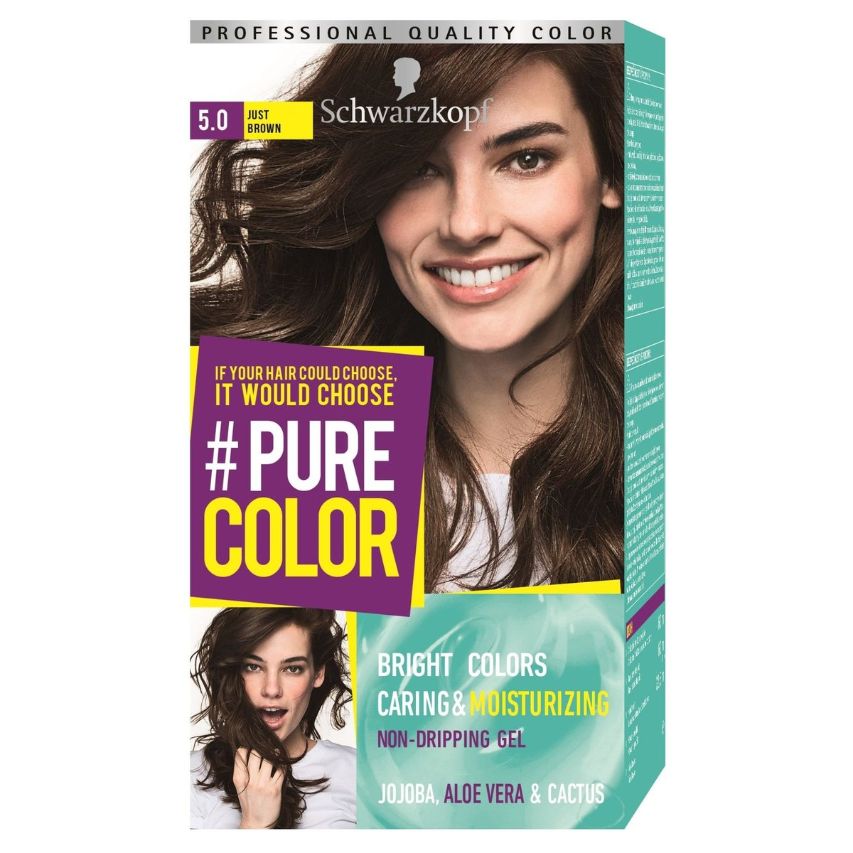 Professional Quality Color Caring & Moisturizing Hair Color 5.0 Just Brown [Parallel Import Product]