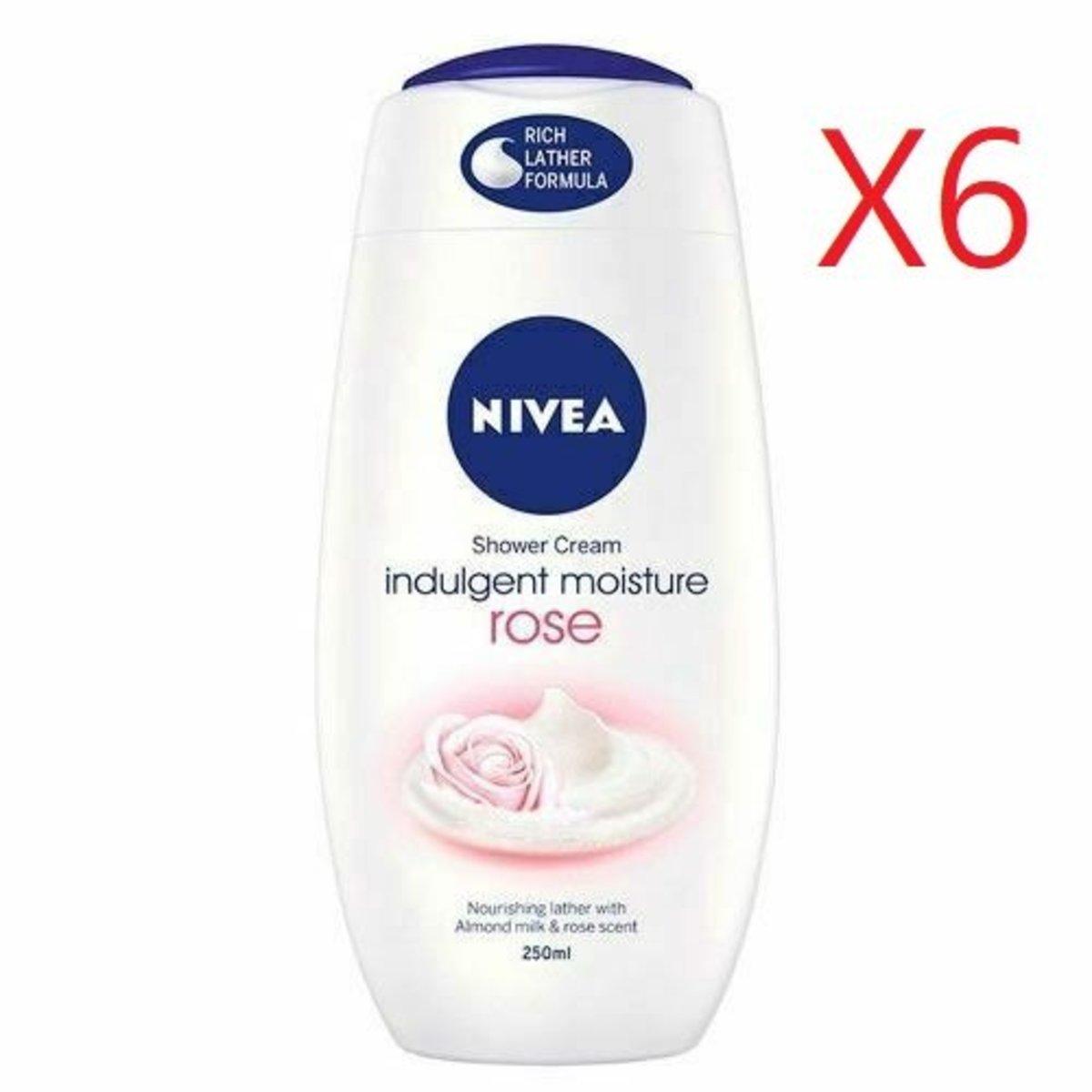 Shower Cream 250ml - Rose X 6pcs [Parallel Import Product]