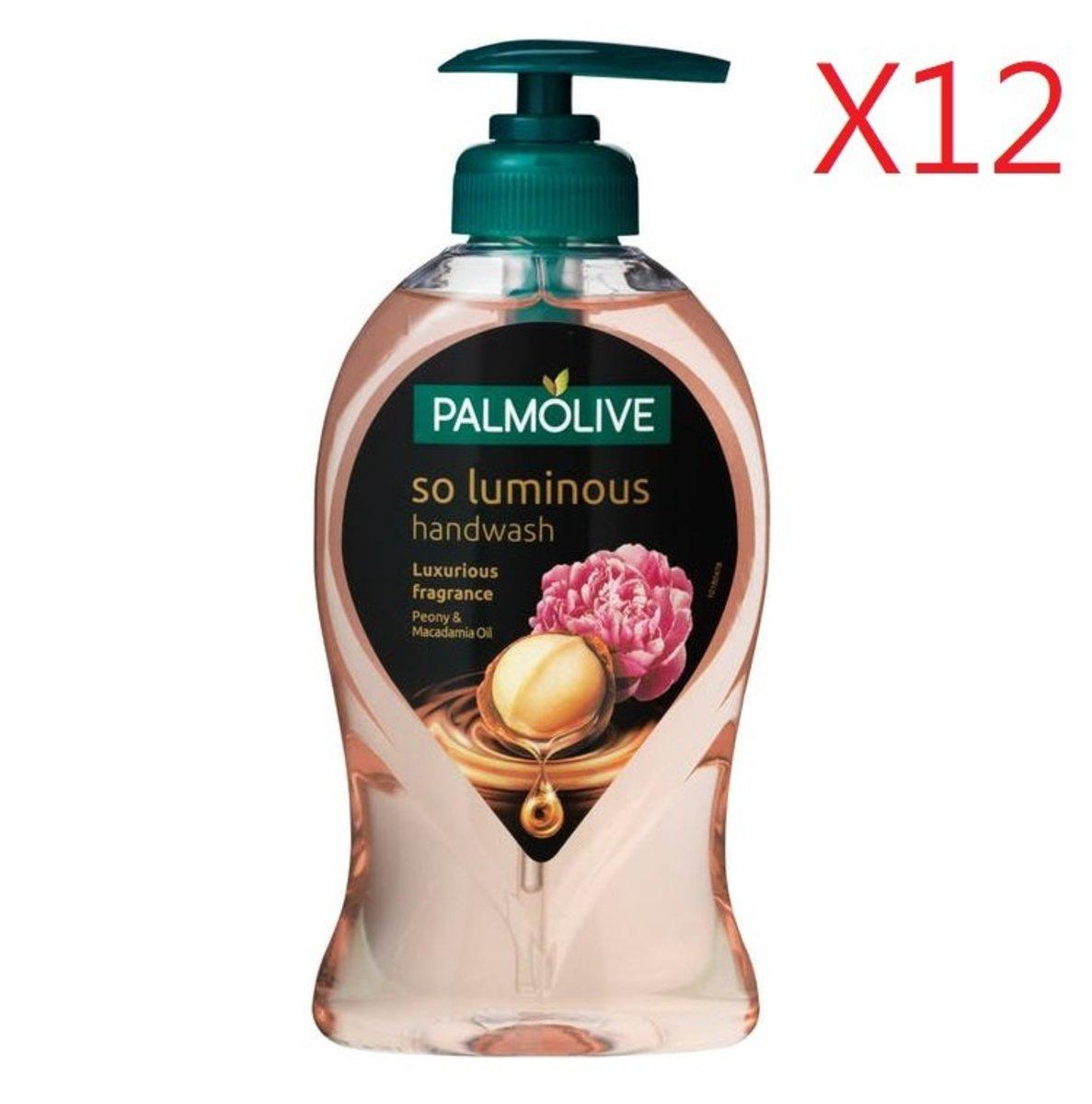 Palmoive 滋潤潔手液250ml - 牡丹+夏威夷果仁油 X 12支   [平行進口產品]