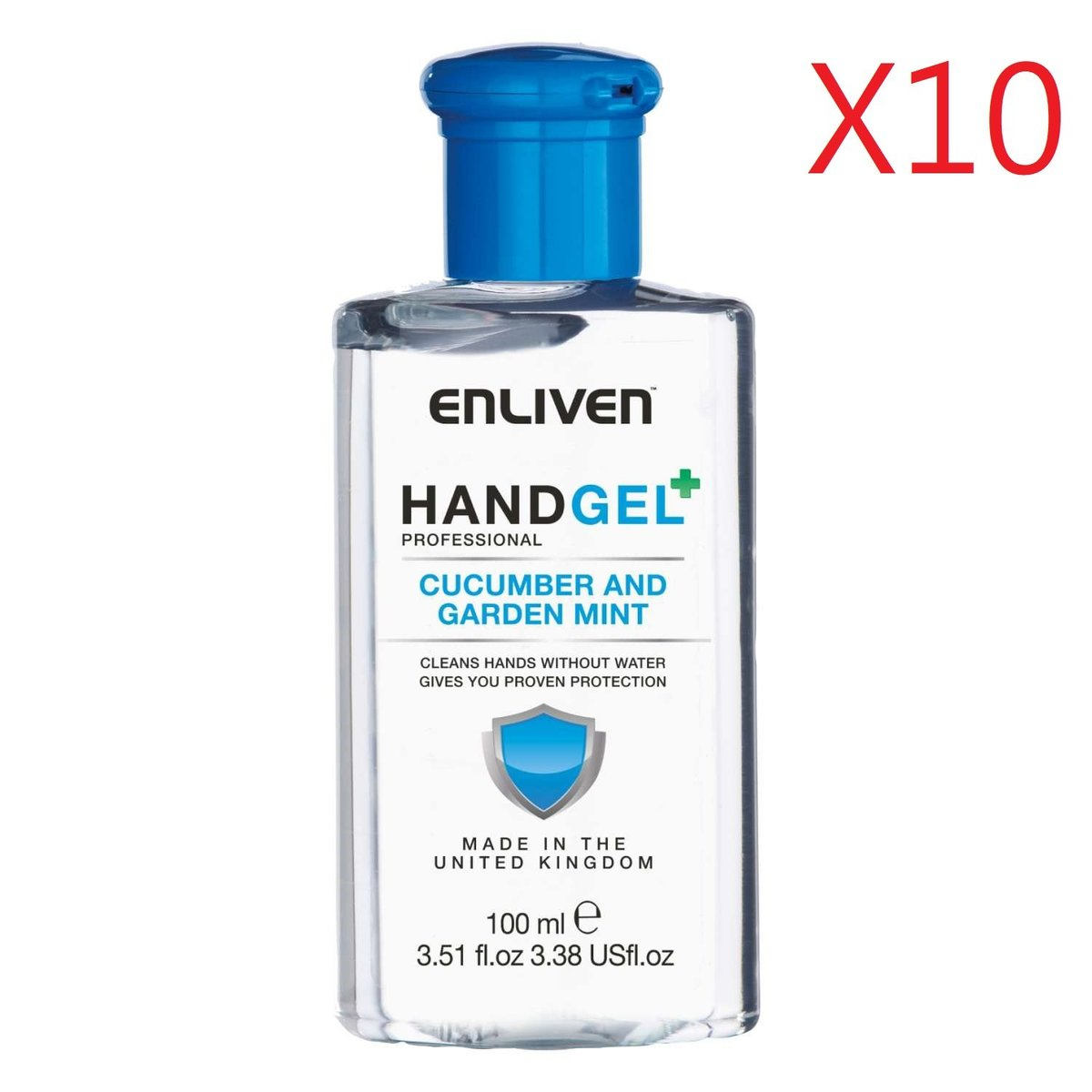 Hand Gel 100ml - Cucumber and Garden Mint X10pcs [Parallel Import Product]