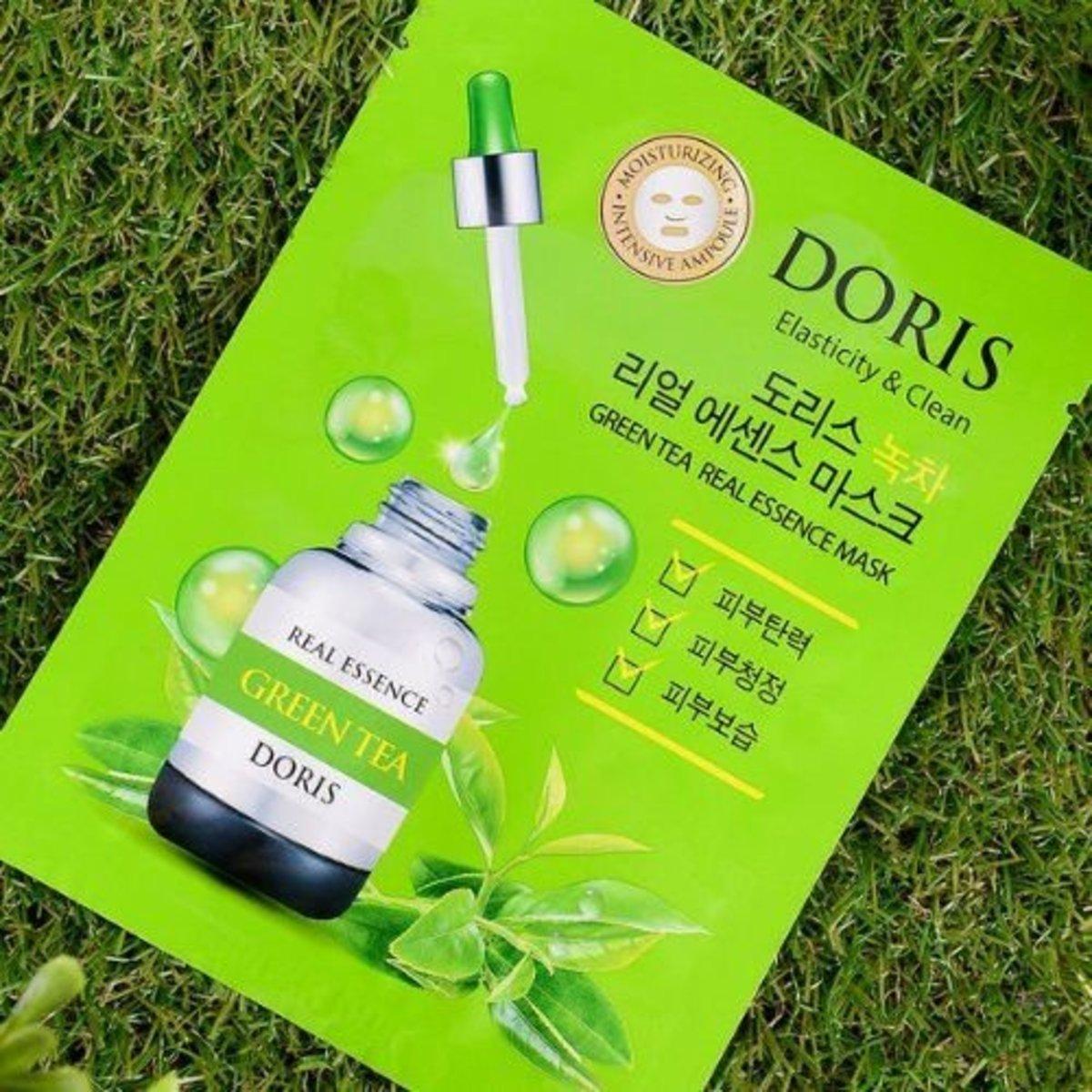 Doris 精華面膜10片 - 綠茶   [平行進口產品]