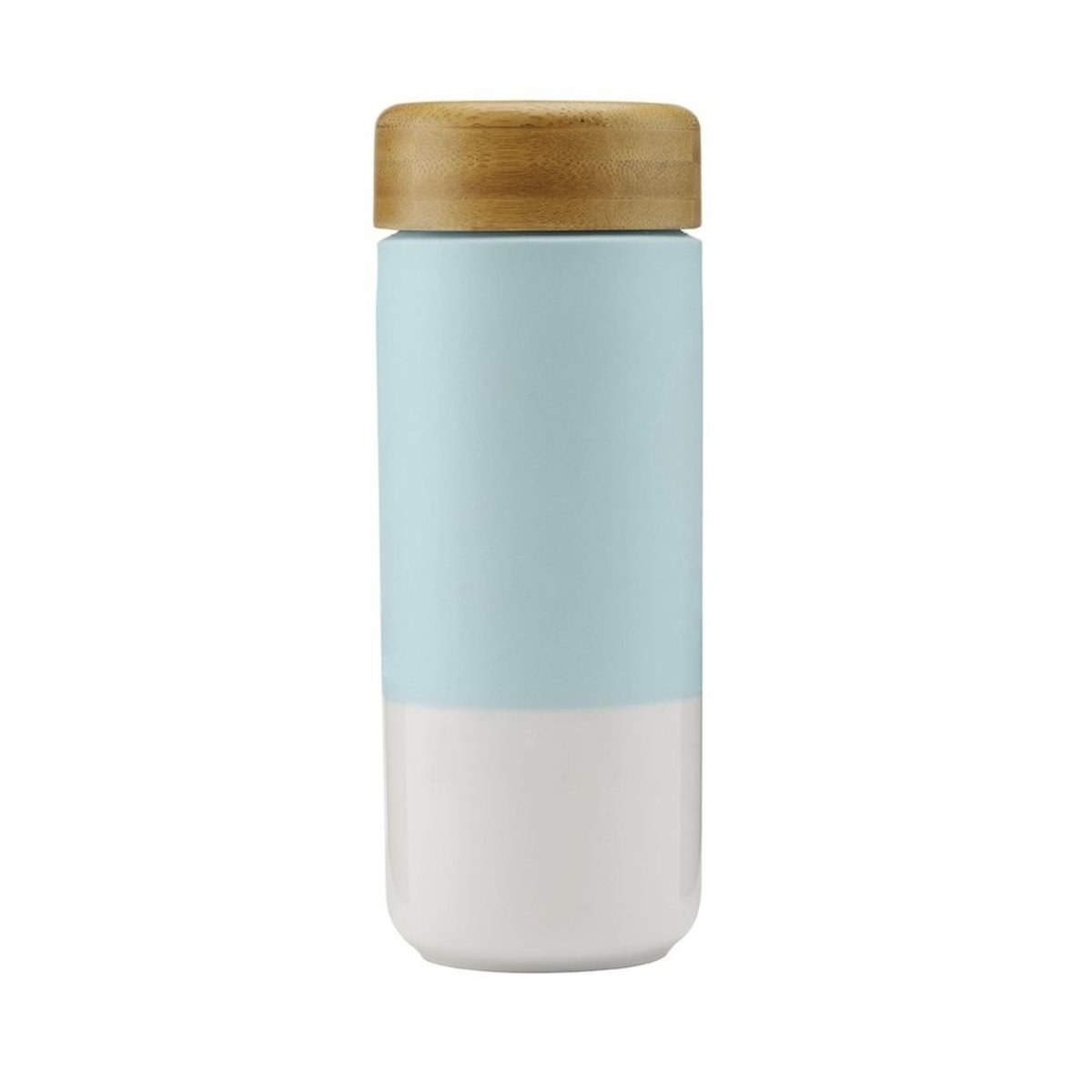 Insulated Ceramic Mug with Bamboo Lid 375ml - Mint Green