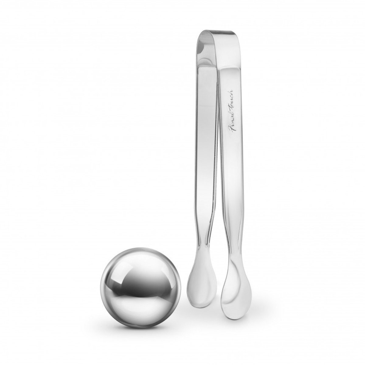 Stainless Steel Chilling Ball & Ice Tongs Set
