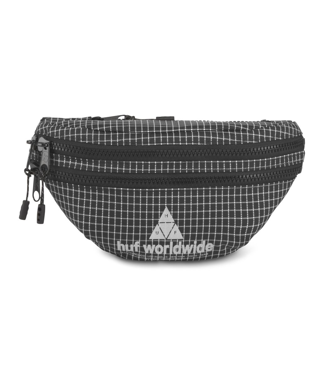 HUF X JANSPORT OAKTOWN WAIST PACK - BLACK