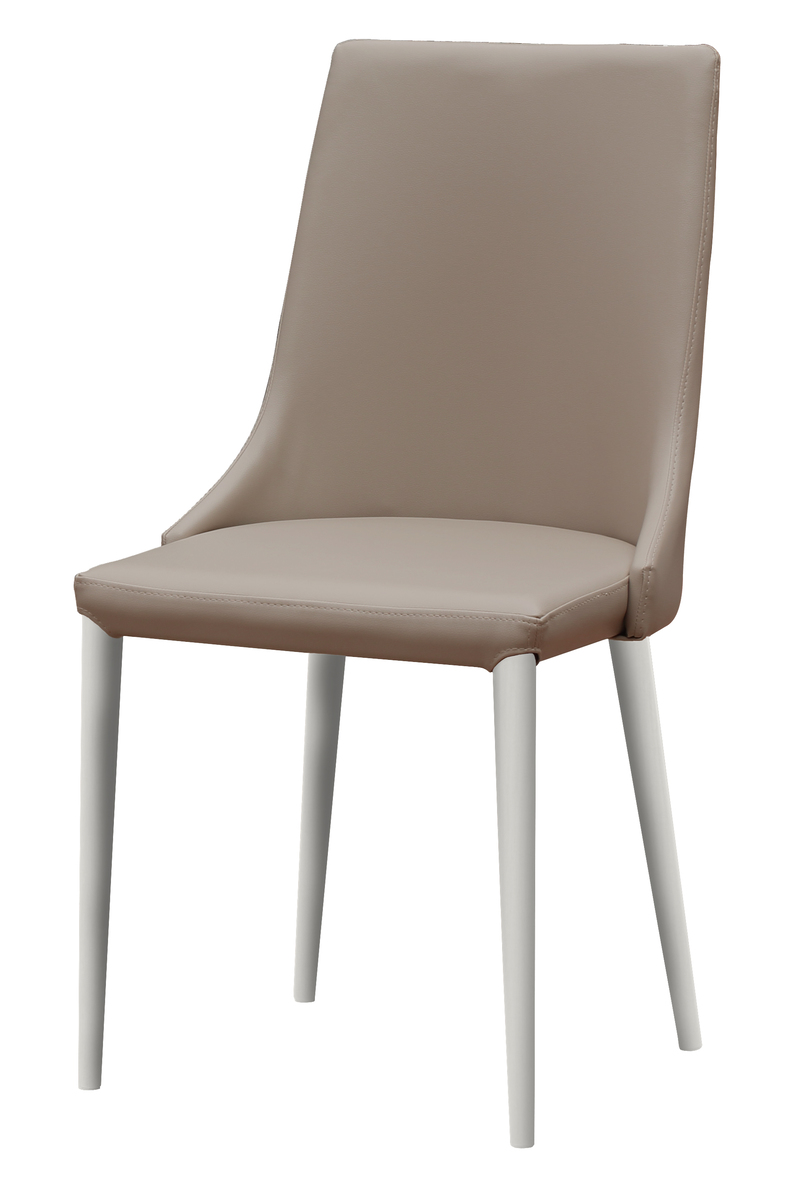 Synthetic Leather Dining Chair(Almond)