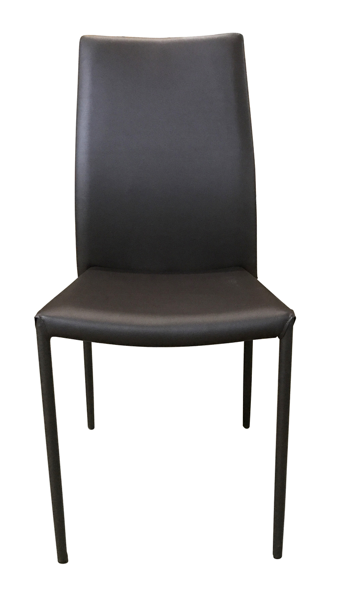 Synthetic Leather Dining Chair(Brown)