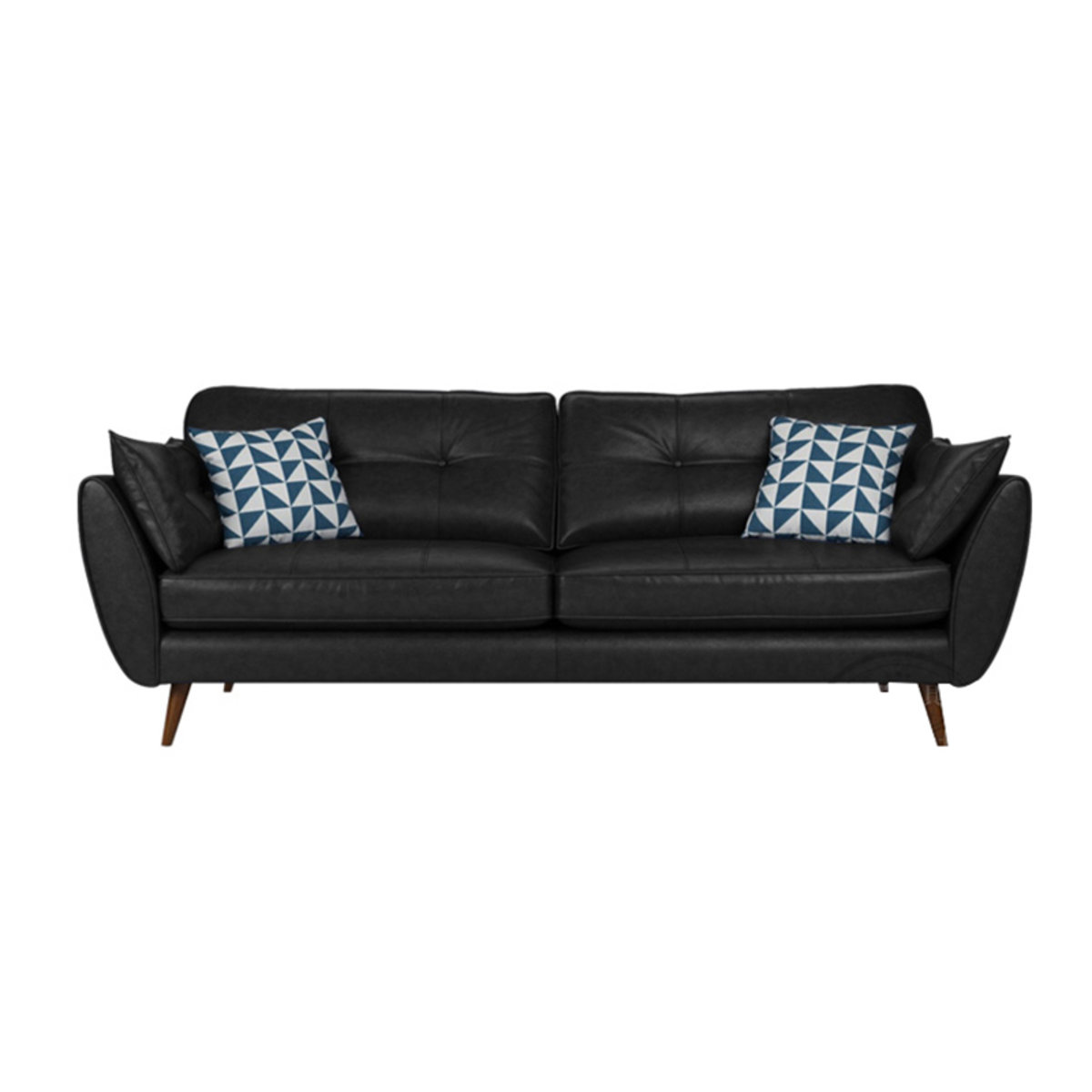 2 seaters PU sofa MR-57 Black