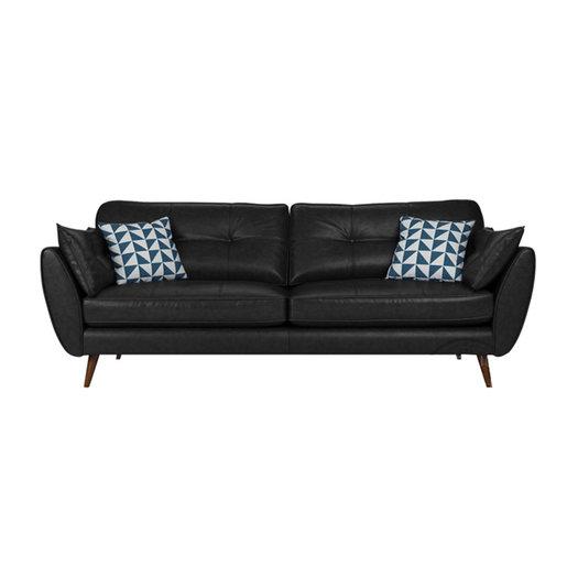 2 seaters PU sofa MR-57 Black