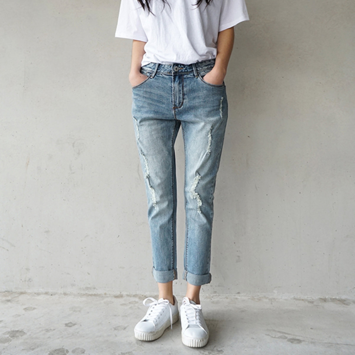 Na343 Women'S Baggy Jeans