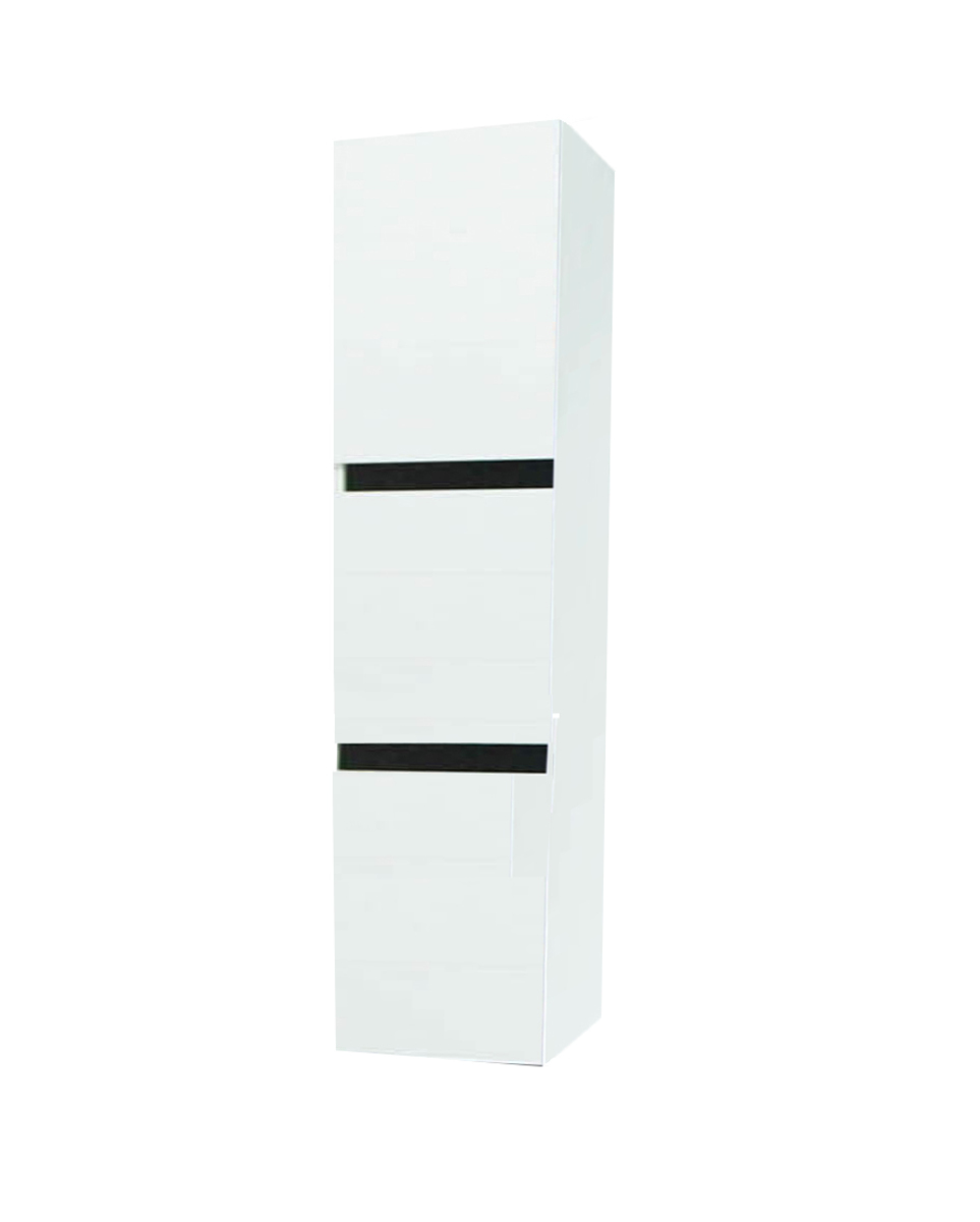 """12"""" white high gloss side cabinet"""