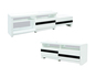 4 feet white high gloss extension TV cabinet