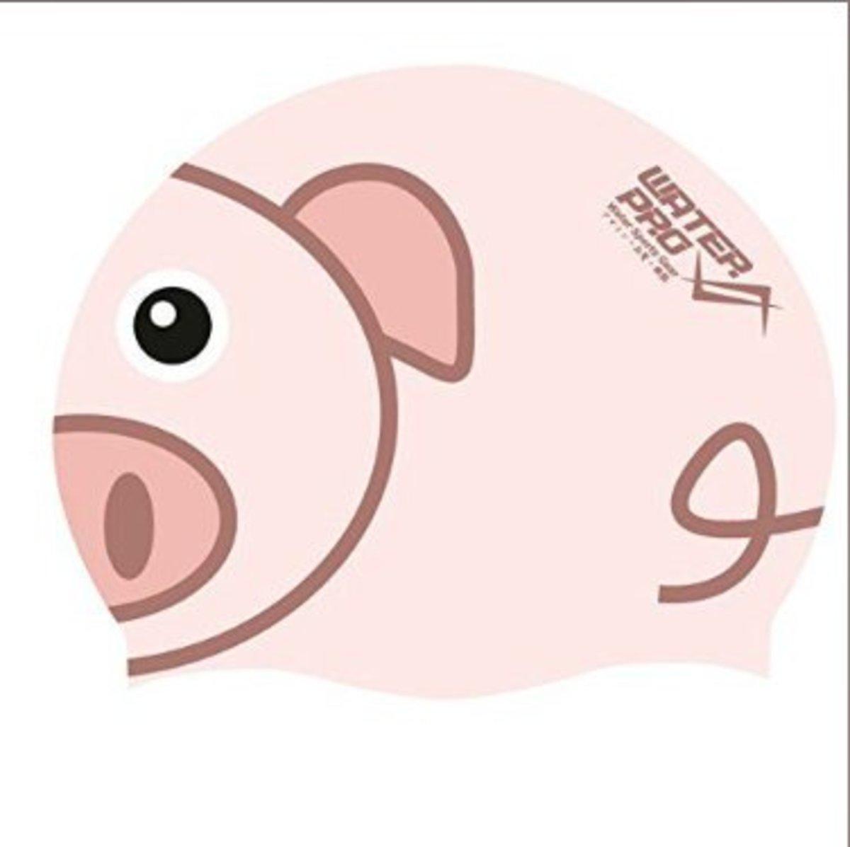 成人/兒童 泳帽 粉紅小豬