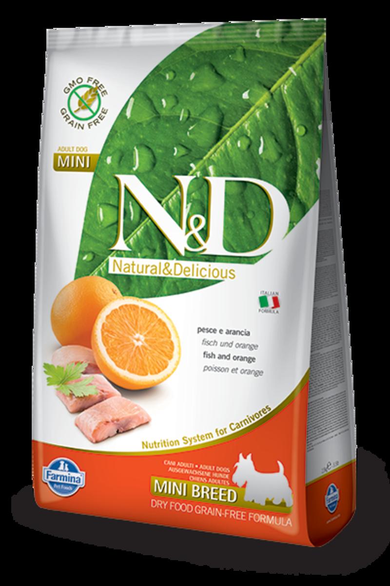 ND FISH & ORANGE ADULT MINI 2.5 KG