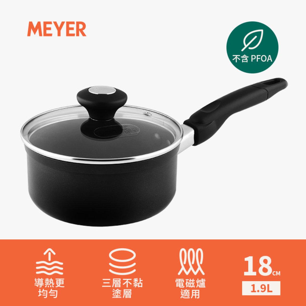 (電磁爐適用) 18cm | 1.9L 易潔單柄湯煲連蓋 - COOK 'N LOOK (#18885)
