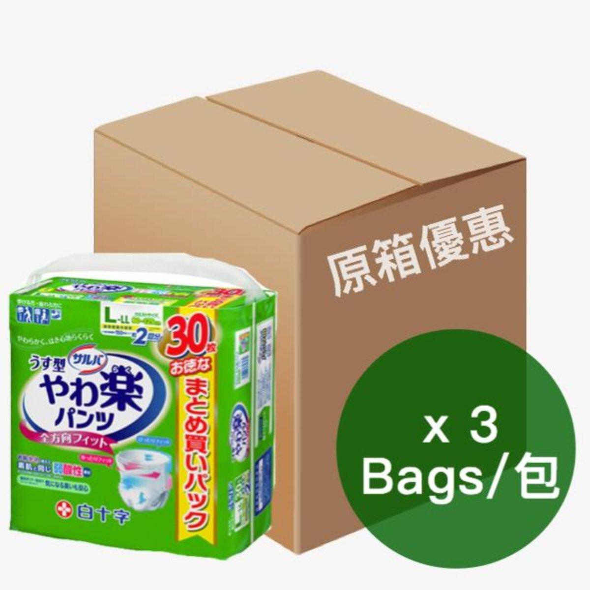 日本喜舒樂成人紙尿褲-大碼(薄裝) (30片/包)(3包/箱) 01010239 x3
