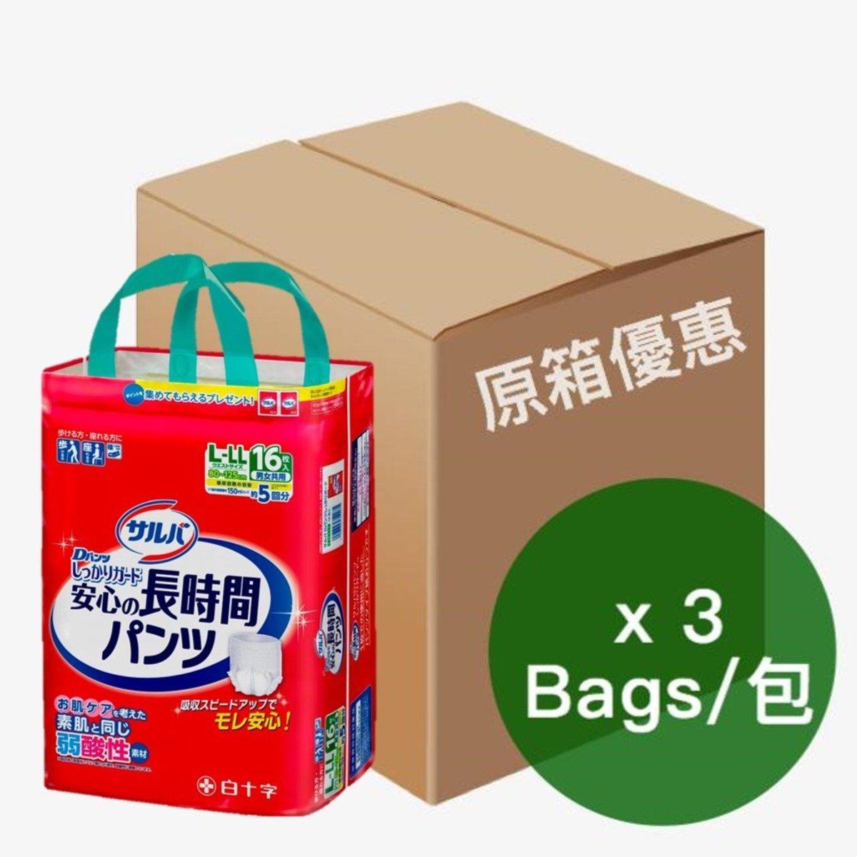 日本喜舒樂成人紙尿褲-大碼(安全防護型) (16片/包)(3包/箱) 01010198 x3