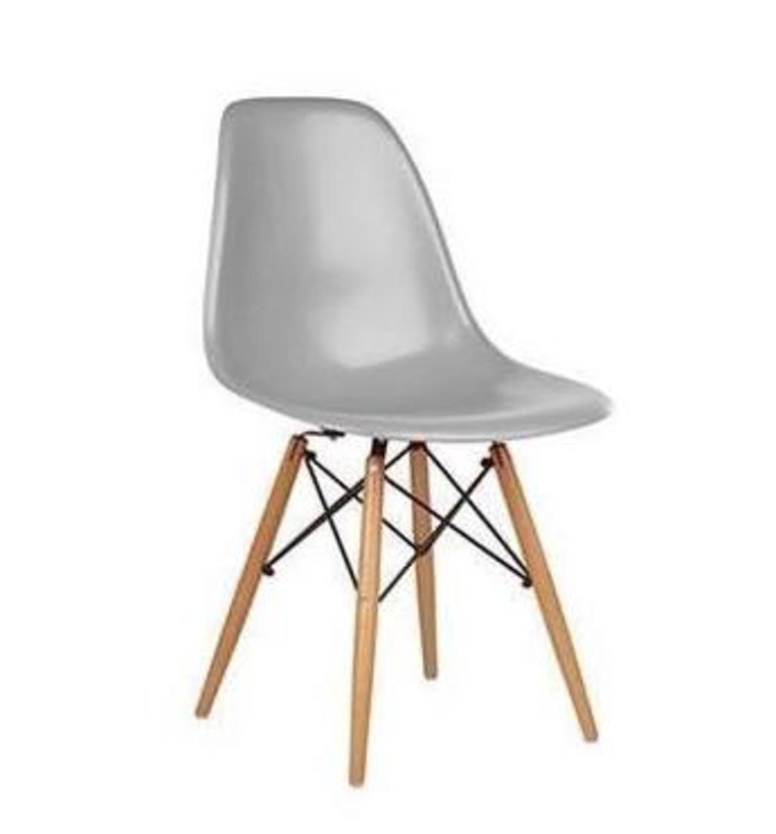 LH116 型格實木腳餐椅  (灰色)