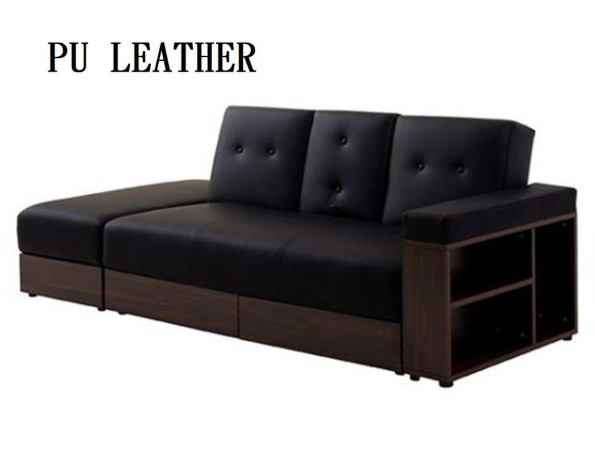 LH002PU 大容量儲物折疊兩用舒適梳化 (不包小cushion)
