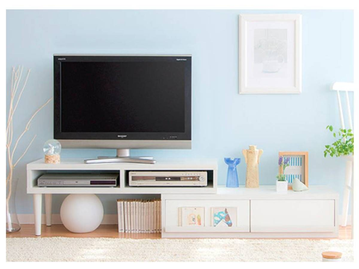 Life Home Lh702w 360 Degree Rotating Telescopic Tv Cabinet