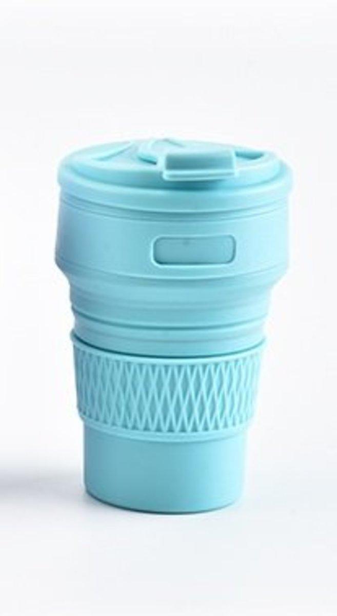 *旅行必備* 矽膠折疊杯 350 ml(藍色)