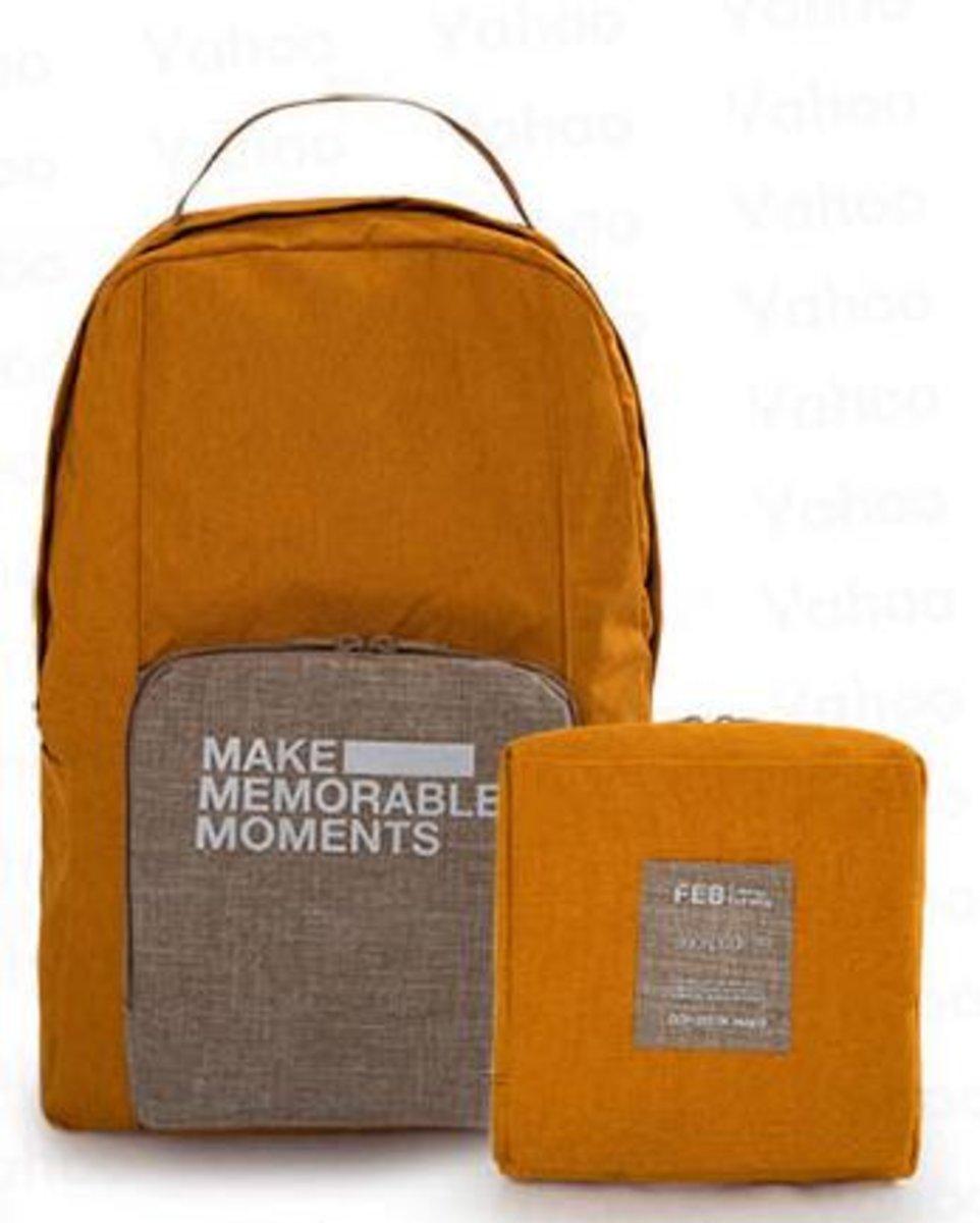 摺疊式便攜背包(黃色)