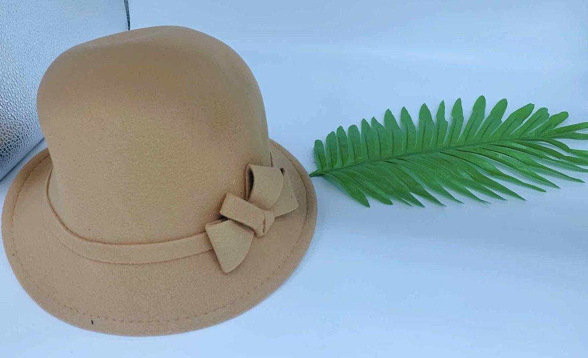 韓版時尚禮帽(米黃色)