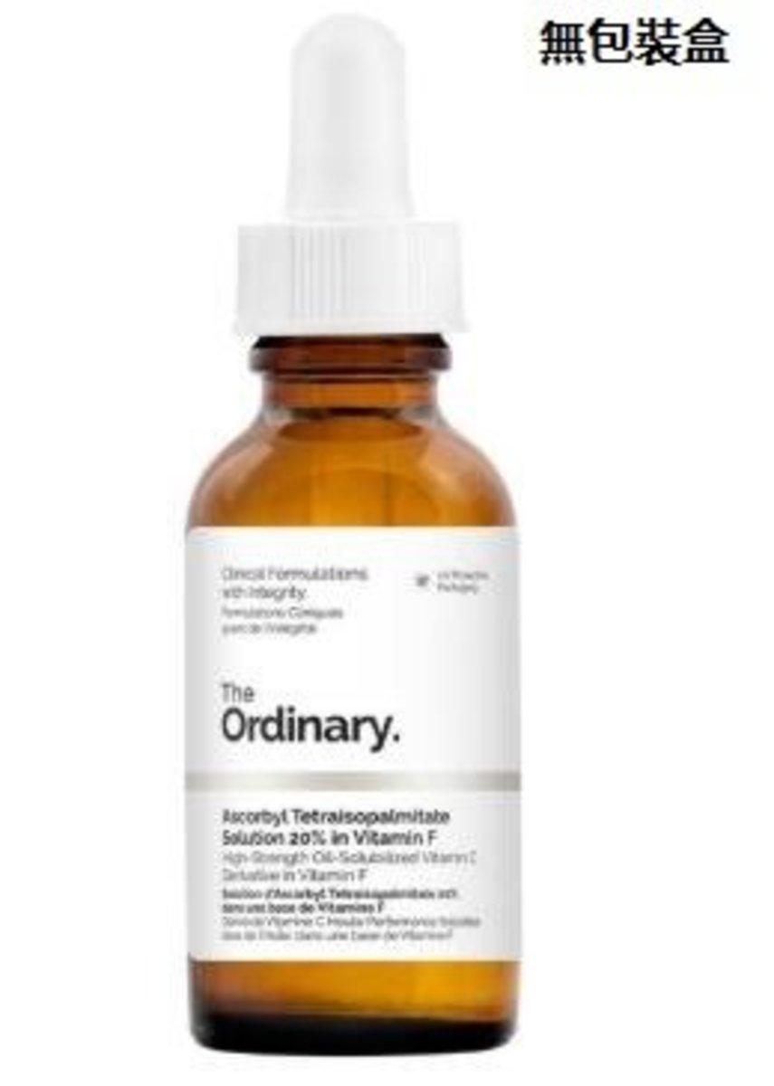 The ordinary ascorbyl tetraisopalmitate solution 20% in vitamin F-NO PACKAGE BOX [Parallel Import]