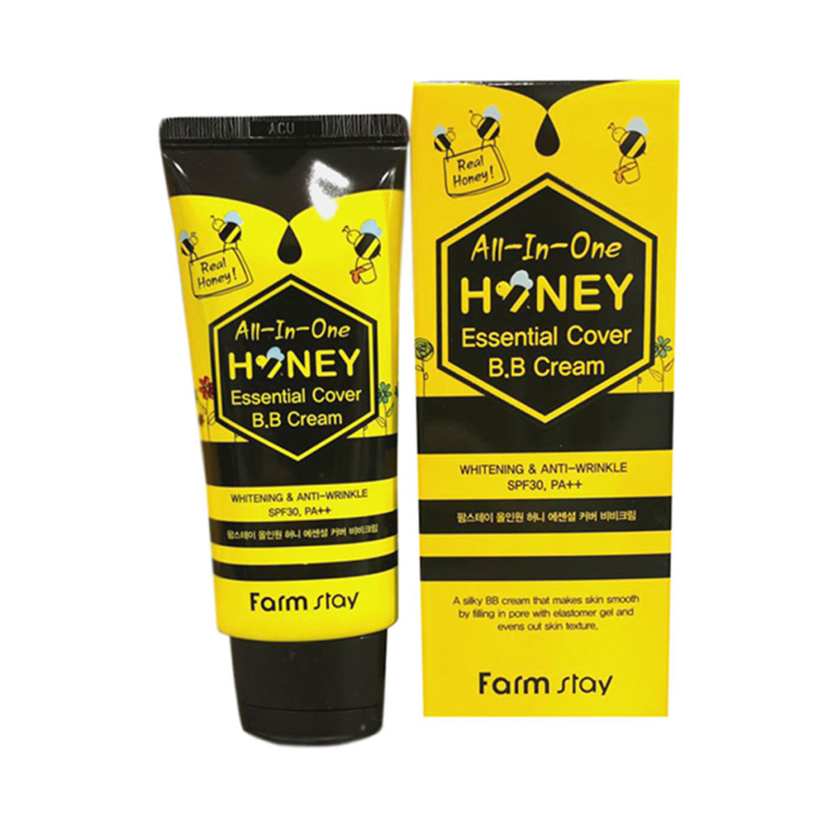 Honey All In One Essential Cover BB Cream 50g