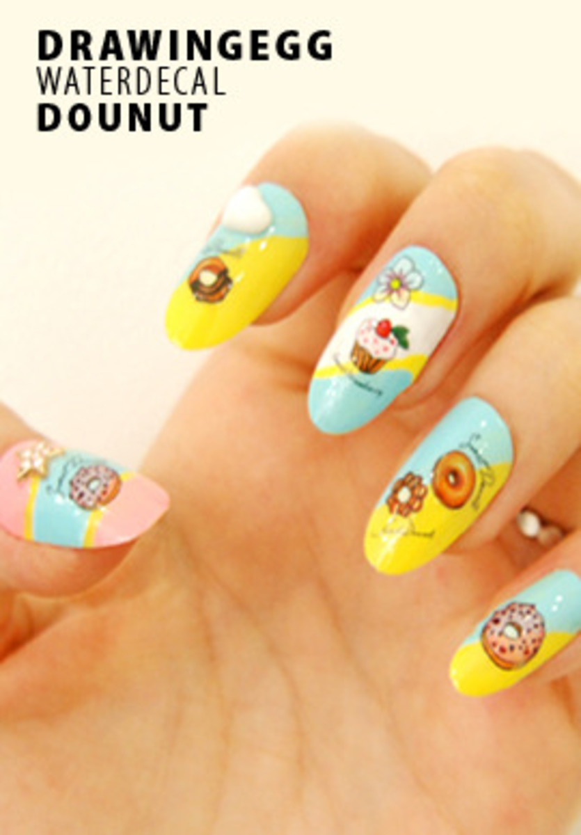 DrawingEgg Nail Art Water Decal WT36