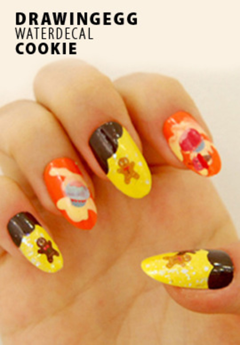 DrawingEgg Nail Art Water Decal WT49