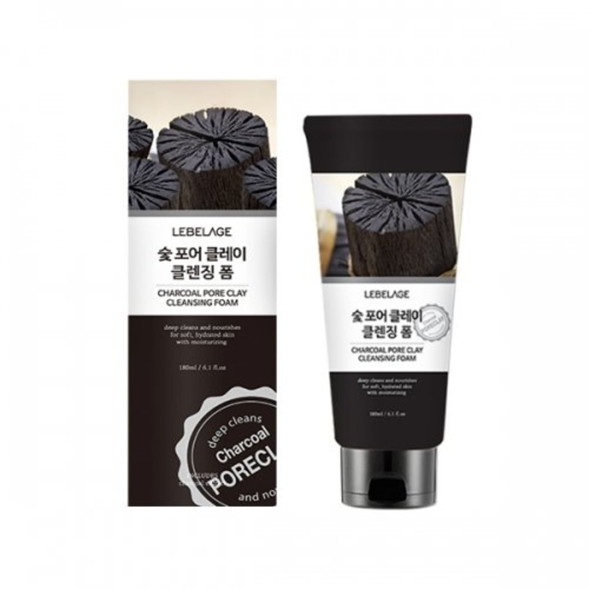 Charcoal Pore Clay CLeansing Foam 180ml
