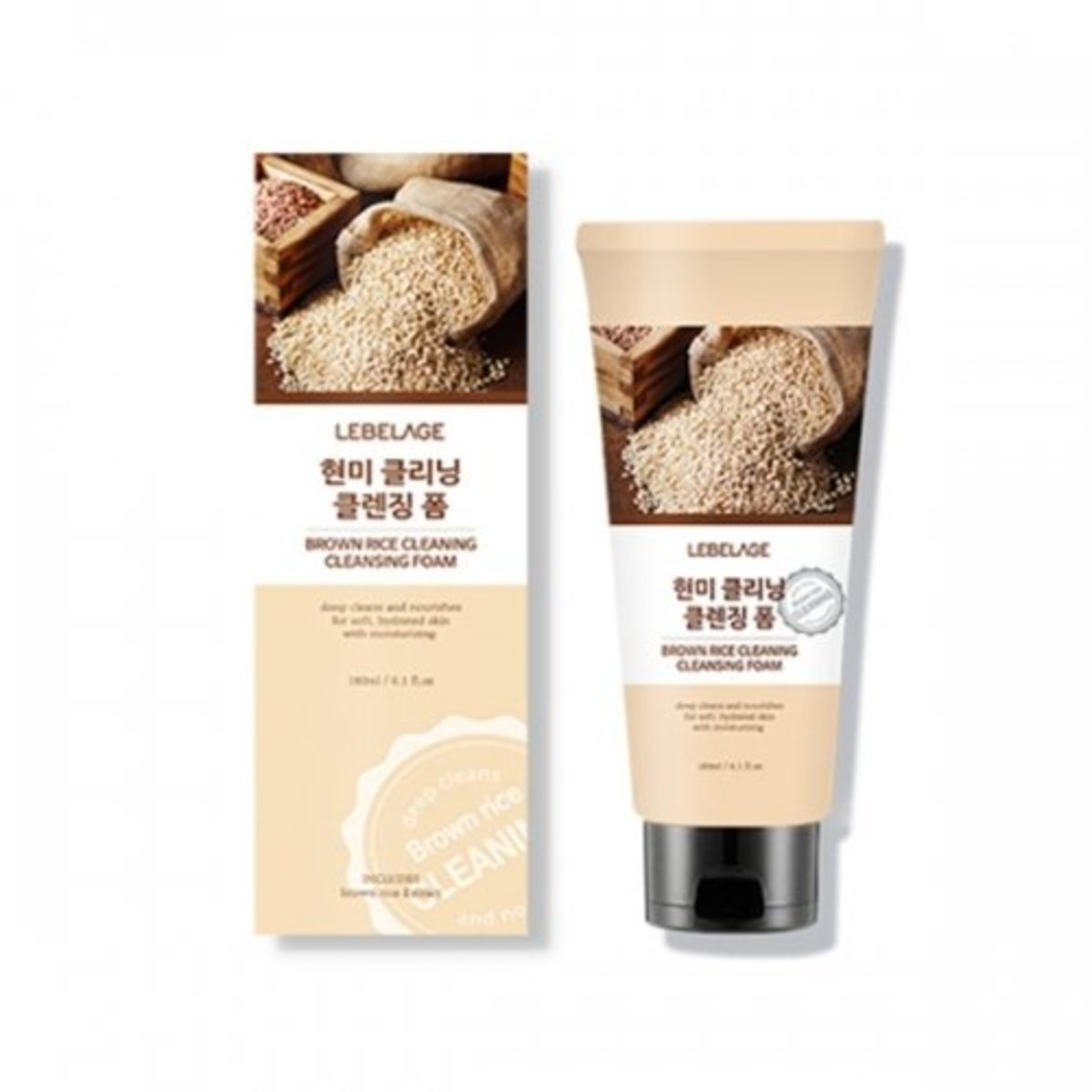 brown rice cleaning cleansing foam 180ml