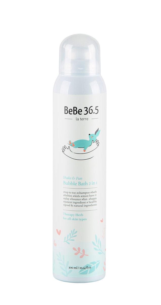 La Terre BeBe36.5 Shake&Fun Bubble Bath 2in1(Herb)300ml