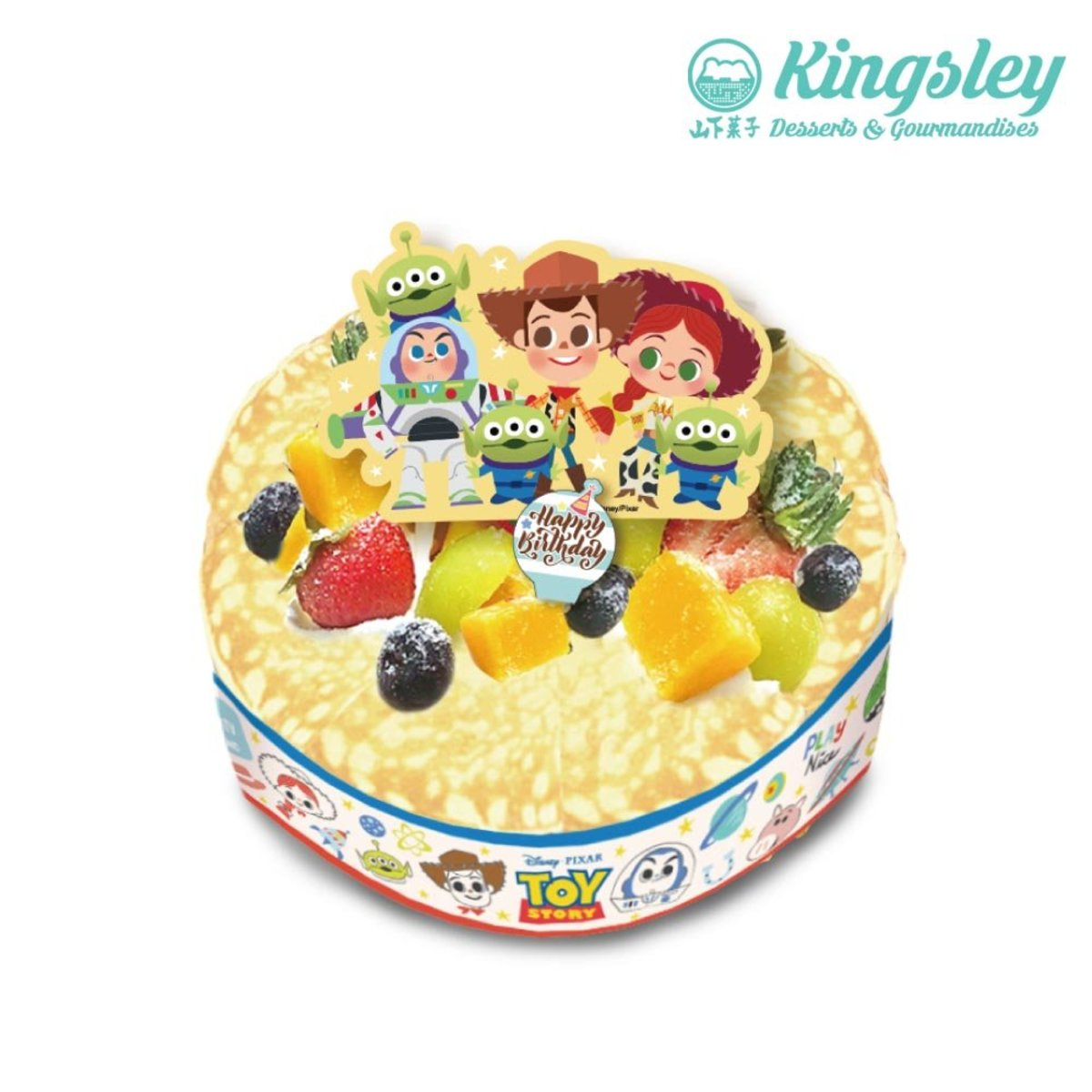 1 Unit - Disney (Whole) Mille Crepe Birthday Cake (Reserve 5 days in advance)