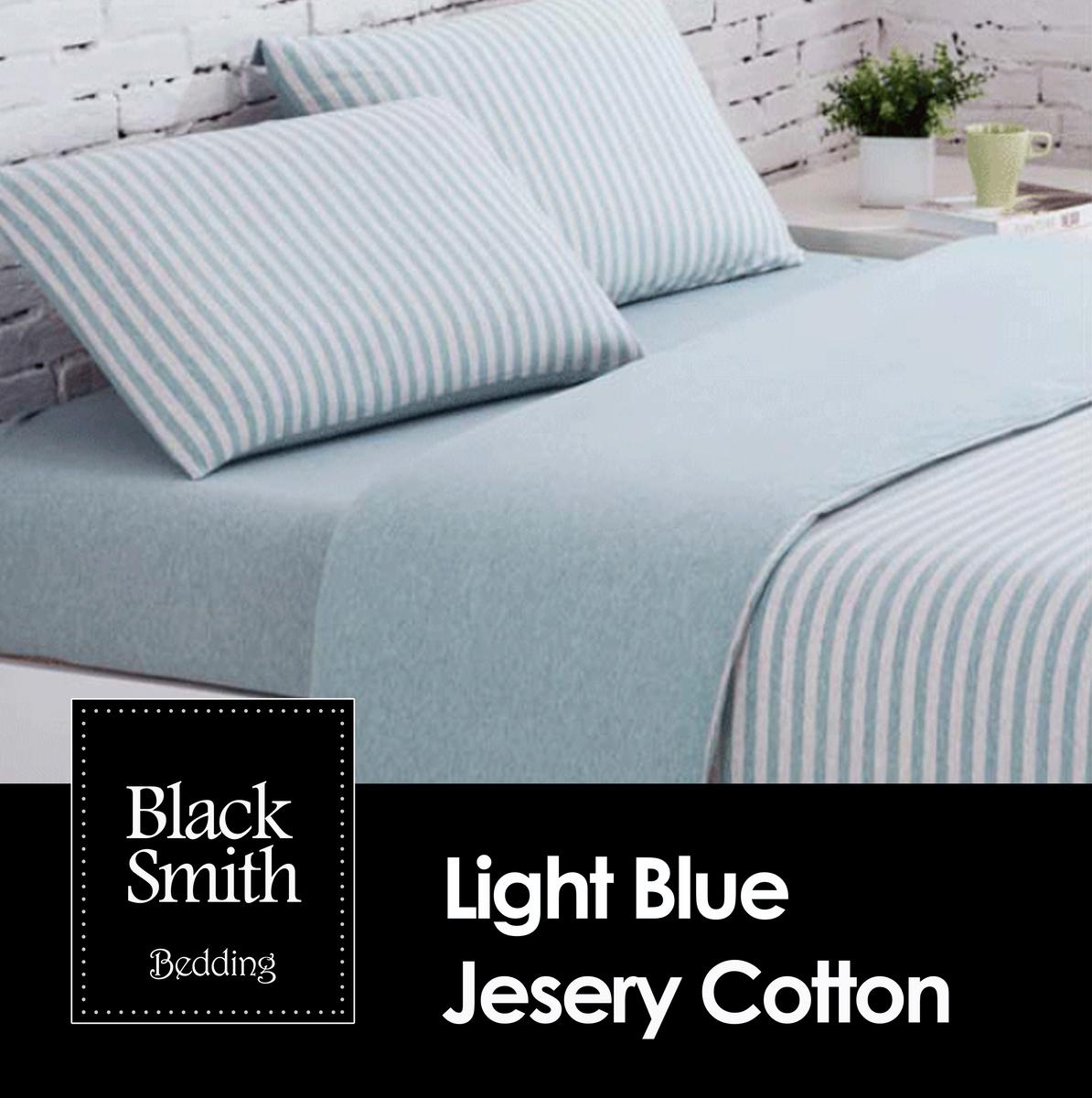 針織新彊綿床品套裝(藍色/雙人)