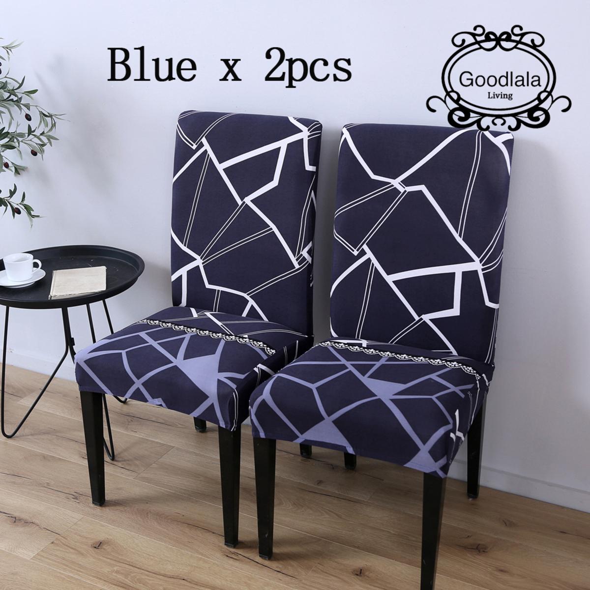 餐椅及電腦椅套(秋色藍)_2件裝